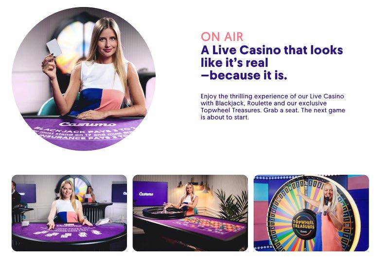 Casumo Thrilling Live Casino