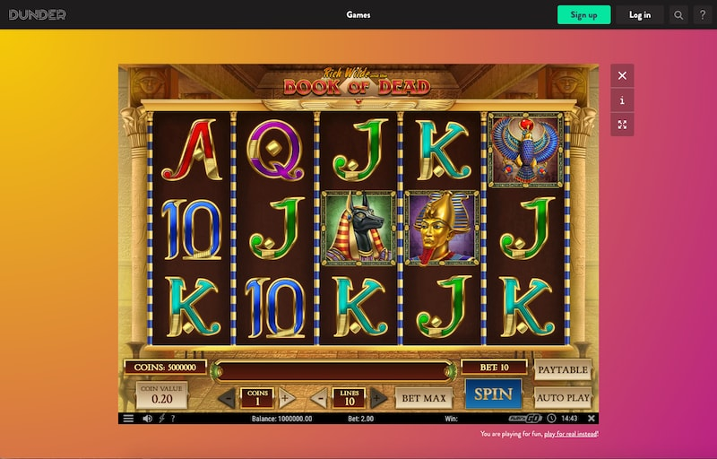 Dunder video slot