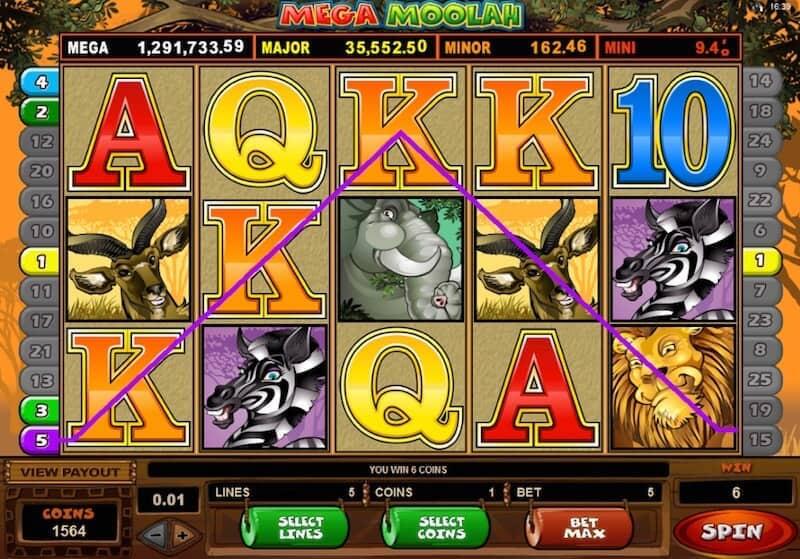 Spin Palace slots machine