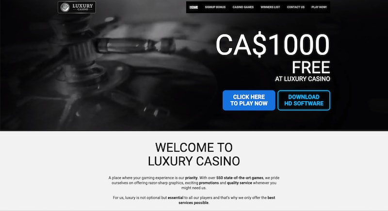 Luxury Casino Review Canada