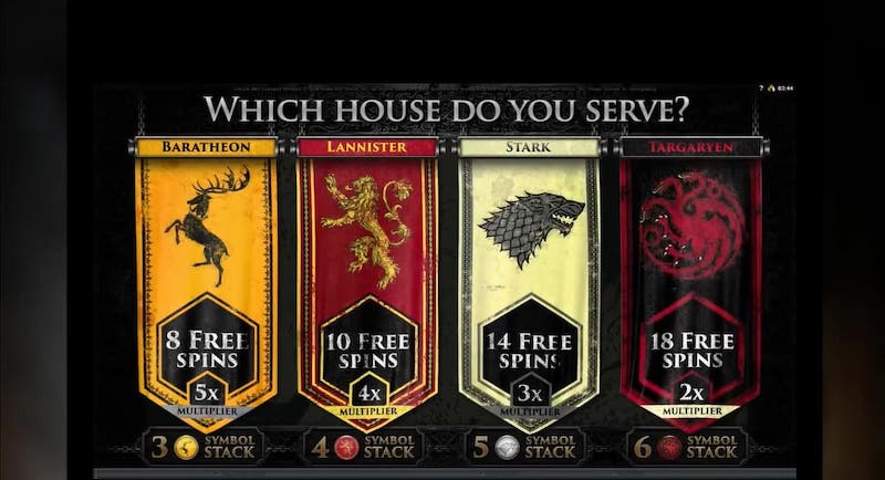 Yukon Gold Game of Thrones Slot