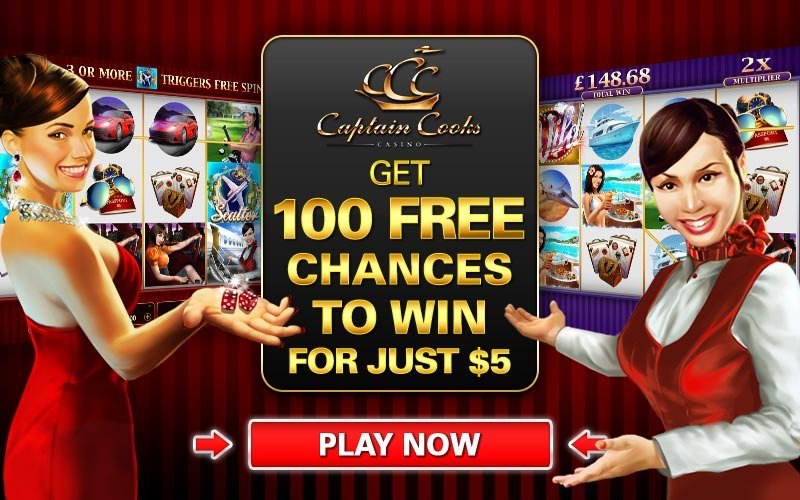 Captain Cooks Casino 100 Free Spins