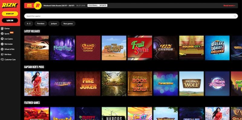 Rizk Casino Canada Review