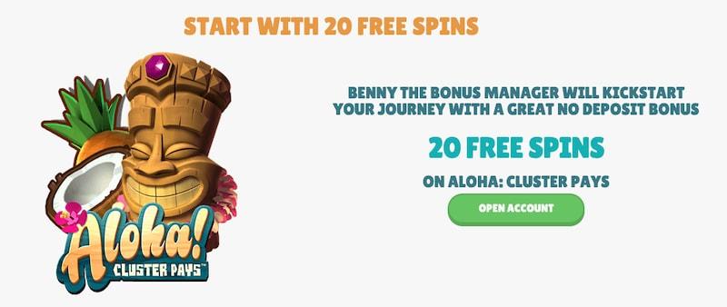 Cashmio 20 No Deposit Free Spins
