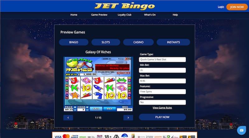 Jet Bingo Slot Games