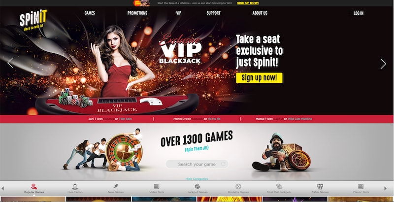 Spinit Live Casino Games