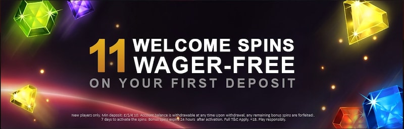 Get 11 Wager-Free Spins at Videoslots