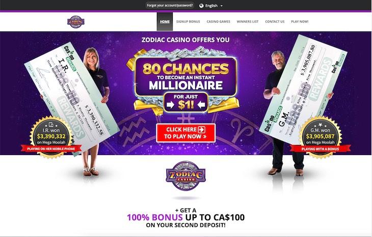 Zodiac Casino Canada Review